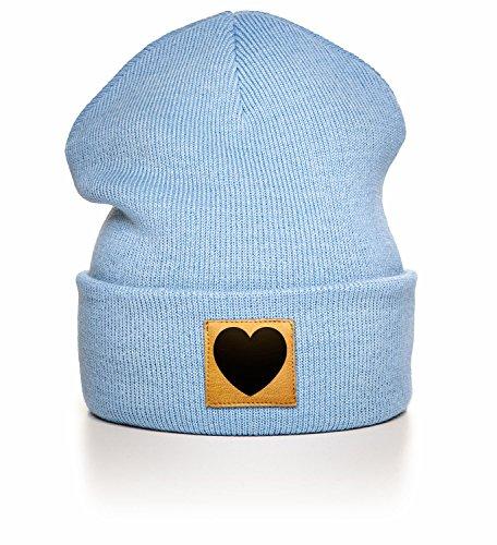 Kane Grey - Heart - Beanie - Light Blue (Blue Light Beanie)