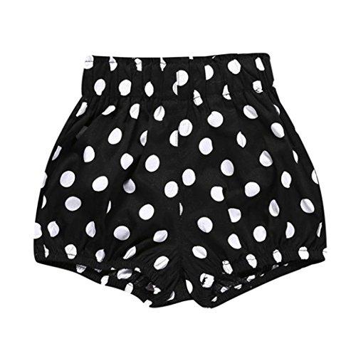 JERFER Säugling Kleinkind Kinder Unterwäsche Nettes Baby Mädchen Jungen Dot Geometrische Shorts Hosen Leggings 6M-5T (Schwarz B, 12M)