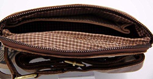 Lozano - Riñonera unisex-niños unisex marrón marrón 25 cm x 13 cm x 9 cm