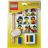 Lego - Set básico de papelería, color blanco