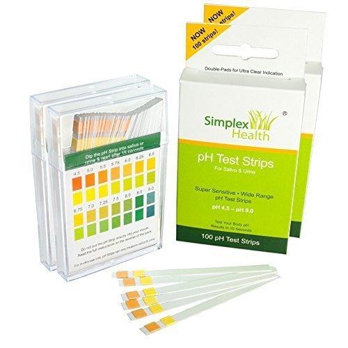 SimplexHealth PH-Teststreifen für Urin und Speichel (Doppelpack 200 Streifen)