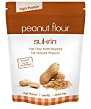 Sukrin fat-reduced Peanut Flour, Gluten-Free, Low-Carb, Low-Fat, High-Protein Substitute for Flour, produced from Raw Peanuts (250g)