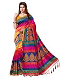 e-VASTRAM Women's Mysore Art Silk Saree with Blouse Piece (NSTASSELMULTI_Multicolour)