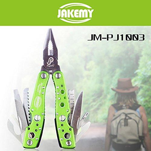 Preisvergleich Produktbild Joyhero JM-PJ1003 9 in 1 Multifunktionale Werkzeug Zange / Skaliermesser / Schlitz- / Kreuzschraubendreher / Dosenöffner / Säge / Feile geeignet für Camping, Outdoor, Waldwanderung usw