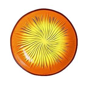 Luminarc 9208838 Lot de 6 Assiettes à Dessert Verre Soleil Jaune 21,7 x 21,7 x 1,8 cm