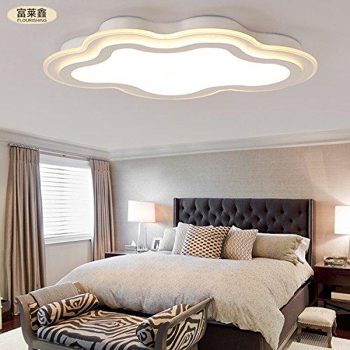 nubi ferro creativo soffitto del LED pranzo camera da letto soggiorno acrilico semplice ed elegante 32-36w interruttore di accensione a distanza , yellow , 32W 600*400mm