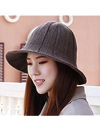 BTBTAV in Autunno e in Inverno Hat Donne la Piegatura Maglia di Lana Hat  Inverno Caldo Sole Hat Cappello di Lana Zucca… 4009969b74ab