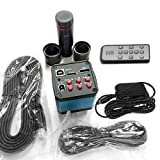 Gugutogo 14MP HDMI Elektronische Industrie Digital Mikroskop + C-Mount Zoom Objektiv Kit, Schwarz & Blau