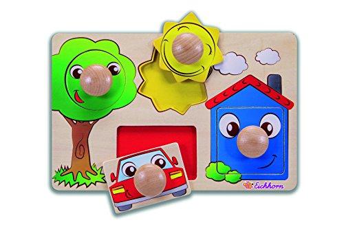 Eichhorn - 100005460 - Puzzle à buttons en Bois - 5 pièces