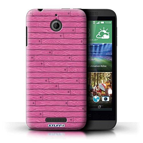 Kobalt® Imprimé Etui / Coque pour HTC Desire 510 / Beige conception / Série Motif Bois Rose