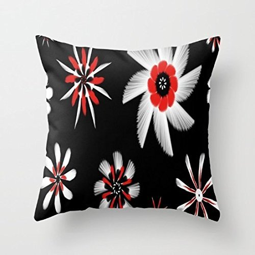 Decorative Square Pillow Case Cushion Cove18X18 Inches Guinea Pig In FloweCrown Euro sham Pillow Cases