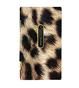 FUSON Real Leopard Fur Backgrounds 3D Hard Polycarbonate Designer Back Case Cover for Nokia Lumia 920 :: Micosoft Lumia 920