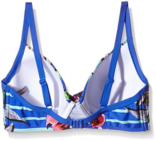 Moontide Damen Bikinioberteil Eden Wrap U/W Mehrfarbig (Stripes)
