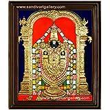 Sandiv Art Gallery Thirupathi Balaji Tanjore Painting 22 Carat Gold P O Frame On Wall