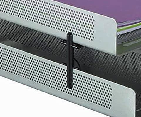 Rolodex Black Punched Metal Stacking Support - Pack of 4