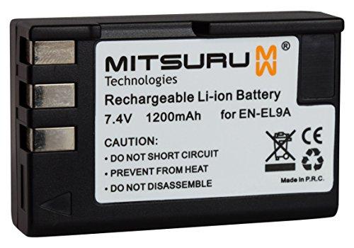 Mitsuru® Batterie de Remplacement pour Nikon en-EL9 ENEL9 EN-EL9a ENEL9a Compatible avec Nikon D3000 D40 D5000 D60