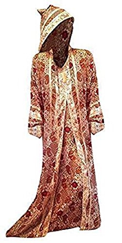 Cool Kaftans - Neu Marokkanisches Kleid Jilbab Kaftan Abaya Mit Kapuze Party Lang Seidig Weich - XL, Rot