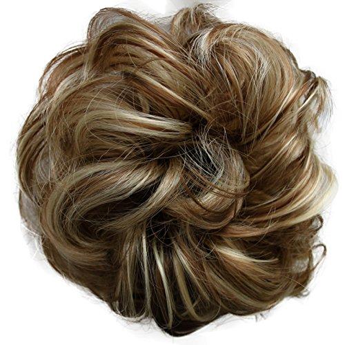 Prettyshop Haarteil, gelockter oder unordentlicher Dutt, verschiedene Farben erhältlich