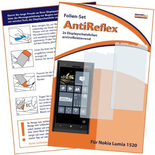 mumbi Schutzfolie kompatibel mit Nokia Lumia 1520 Folie matt, Bildschirmschutzfolie (2x)