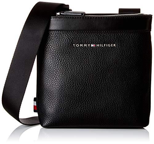 Tommy Hilfiger Herren Th Downtown Mini Crossover Schultertasche, Schwarz (Black) 5x20x19 cm