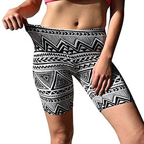 Longra Damen Boho Printed Sport Leggings Sporthose Fitnesshose Jogginghose Yoga Leggings Soft Yoga Workout Stretch Leggings Damen Sport...