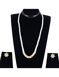 Spargz New Design Of Bollywood Gold Plated Alloy Metal Long Necklace Set For Women