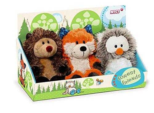 Nici 39874 - Set Fuchs, Forest, Friends, Eule und Igel, 15 cm