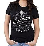 Mein leben Gladbach Girlie Shirt | Freizeit | Hobby | Sport | Sprüche | Fussball | Stadt | Frauen | Damen | Fan | M1 Front (XXL)