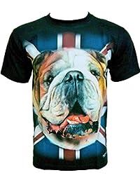 Rock Chang T-Shirt * Bulldog * Chien Bouledogue * Noir R683
