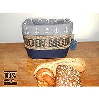 Brotkorb / Brötchenkorb Moin Moin aus Kaffeesack für 5-6 Brötchen