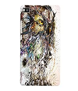 Fuson 3D Printed Owl Walpaper Designer Back Case Cover for Huawei Honor P8 - D854