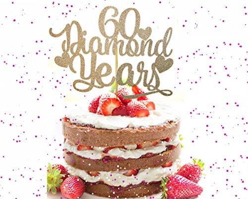 60th Anniversary Cake Topper, diamond years cake topper, Anniversary cake topper, wedding cake topper