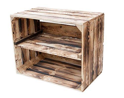 4er Paket Geflammte Kiste für Schuh-und Bücherregal 50x40x30cm +++ von Kontorei®