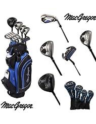 MacGregor–Palo de golf híbrido DCT Acero/Set Paquete De Grafito con Cartbag, Golf: RH (Right Hand)