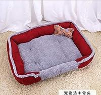 GZDXHN Dog House Teddy Four Seasons Tapis pour Chien Petit Moyen Grand Chien Chat Nid pour Chien Fournitures Lit