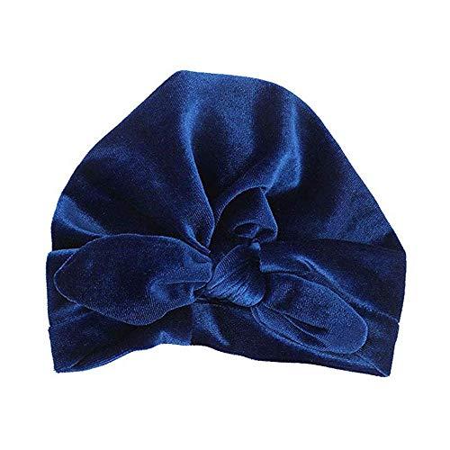 9584047177aafe KOBWA Baby Girl Cappello con Orecchie da Coniglio per i più Piccoli Morbida  Turbante Nodo Arco