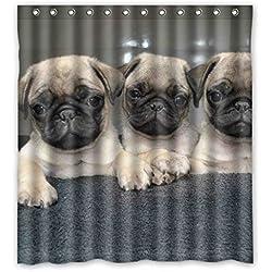 "Alta calidad Doubee CARLINO poliéster cortina de ducha impermeable 167 cm x 183 cm no tóxico, no-olor, poliéster, D, 66"" x 72"""