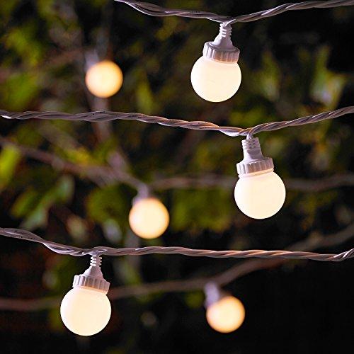 Serie Medium 1 Licht (10er LED Party Lichterkette warmweiß 5m koppelbar weißes Kabel PRO Serie Lights4fun)