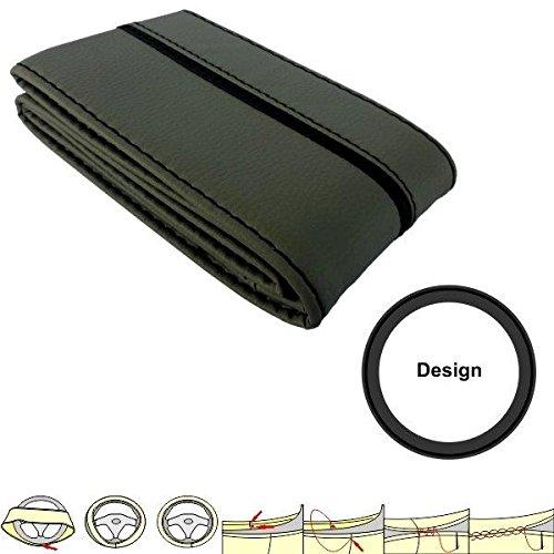 SC306GS - leatherette Cubierta del volante del coche protector de la rueda...
