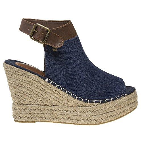 Superdry Mia Damen Sandalen Blau Blau