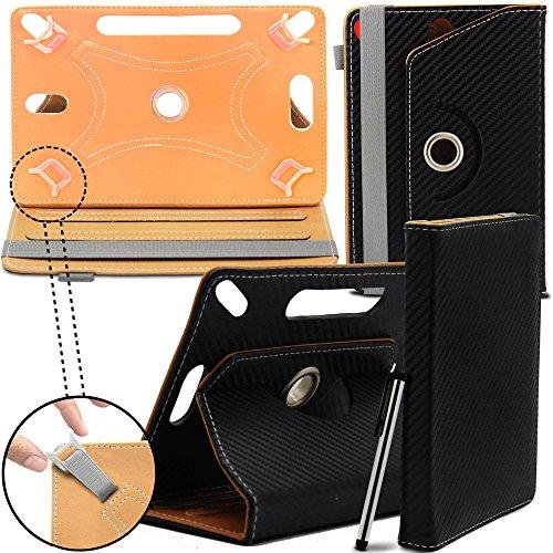 HP Stream 7 7-Inch Neues Design Universelle um 360 Grad drehbare Designer Hülle mit Standfunktion - Cover - Tasche - Kohlenstoff-Faser / Carbon Fibre von Gadget Giant® (Hp Stream 7 Tablet Tasche)