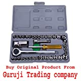 GTC Imported 40 pcs Automobile Motorcycle Repair Tool Case Precision Socket Wrench Set