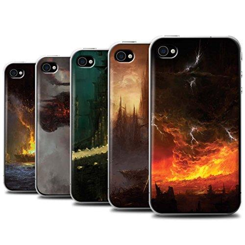 Offiziell Chris Cold Hülle / Case für Apple iPhone 4/4S / Tränen der Eva Muster / Gefallene Erde Kollektion Pack 8pcs