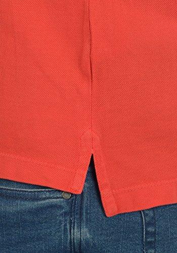 BLEND Dave Herren Poloshirt Kurzarm Shirt mit Polokragen aus 100% Baumwolle Paprika Red (73814)