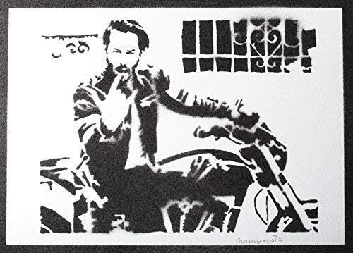 Keanu Reeves Poster Plakat Handmade Graffiti Street Art - Artwork