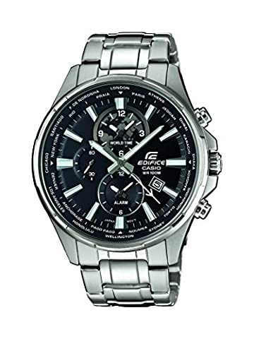 Casio Edifice - Herren-Armbanduhr mit Analog-Display und Edelstahlarmband - EFR-304D-1AVUEF