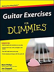 Guitar Exercises For Dummies by Mark Phillips (2008-12-10)