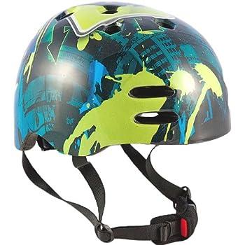 Sport Direct Boy's No - Casco para niño, tamaño 55 - 58, color azul / verde
