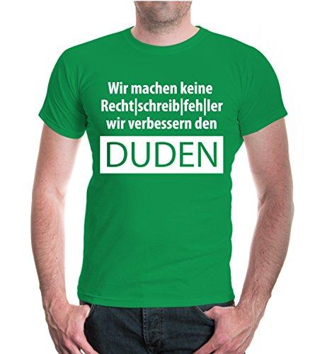 buXsbaum® T-Shirt Wir machen keine Rechtschreibfehler Kellygreen-White