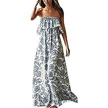 Vestido para Mujer Largo sin Mangas de Fiesta Playa Cóctel Impresión Floral Elegante